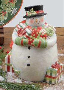 Susan Winget Vintage Snowman Cookier Jar. Want it!