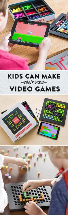 Kids design their own video games—with physical blocks on the game board. Then the app brings their creations to life on the scre