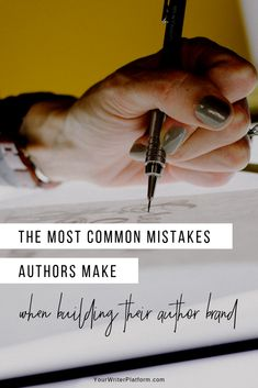 Your author brand is the cornerstone of your writer platform and pivotal in the long-term success of your career as a writer, so avoid these mistakes. Fiction Writing, Writing A Book, Writing Prompts, Writing Advice, Writing Resources, Writing Help, Writing Ideas, Book Proposal, Creative Writing Tips