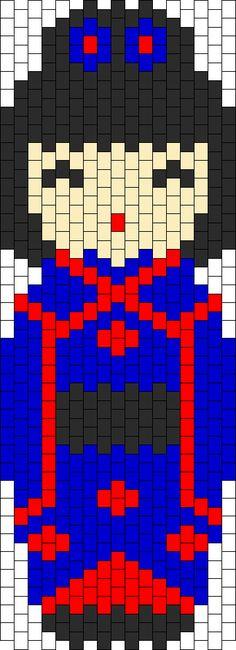 Kokeshi Blue Bead Pattern