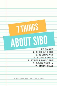 I learned 7 things about SIBO recently after meeting a surgeon who also has SIBO. Learn what they are via sarahkayhoffman.com