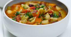 Sopa low carb – carne e legumes – Nutridados Bacon Ham Recipes, Veal Recipes, Soup Recipes, Cooking Recipes, Healthy Recipes, Healthy Food, Family Recipes, Recipies, Healthy Eating
