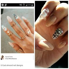 What I showed the lady vs what I got. Perfect nails