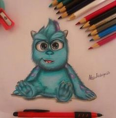 What a cute Drawing .Disney monsters inc. @Ashton Jenkins Jenkins Jenkins Jenkins Caudill
