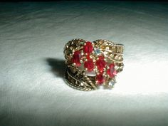 antique 10 kt.gold sterling silver ring by qualityvintagejewels. www.qualityvintagejewelry.com .