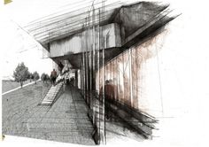 Grace Mills - architectural sketch