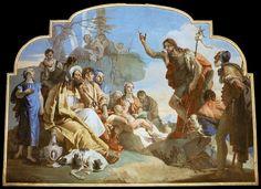 John the Baptist Preaching by Giovanni Battista Tiepolo. I love the rich colors!