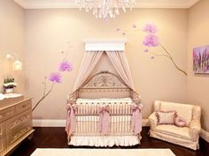 white walls with purple accent <3
