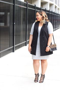 Fall Layering Essential Styled 2 Ways - Beauticurve Looks Plus Size, Curvy Plus Size, Plus Size Fall Fashion, Curvy Fashion, Women's Fashion, Plus Size Dresses, Plus Size Outfits, Stylish Outfits, Cute Outfits