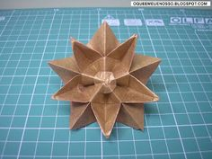 O QUE É MEU É NOSSO: Origami - Estrela de 10 pontas - Ten Pointed Star - Philip Shen