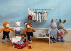 Adorable knitted animals and clothes from Little Cotton Rabbits