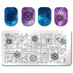 $2.99 BORN PRETTY Stamping Template Compass Voyage Rectangle Manicure Nail Art Image Plate BP-L079 - BornPrettyStore.com