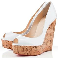 Christian Louboutin Wedges blanco