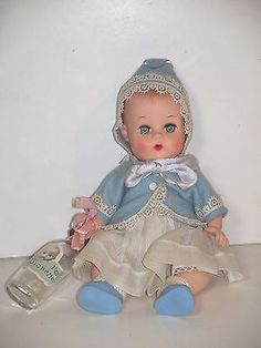 1950s ginny baby ginnette | 1955-1963 VOGUE GINNETTE BABY DOLL #6511 ALL ORIGINAL INCLUDING BOTTLE ... Doll Toys, Baby Dolls, Little Ones, Little Girls, Old Dolls, Hello Dolly, Vintage Dolls, Beautiful Dolls, Kids Toys