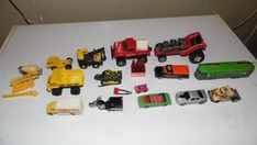 VINTAGE DIECAST CARS ROAD CHAMPS TOMICA TONKA REMCO TOOTIE TOYS LOT OF 14 #HotWheels