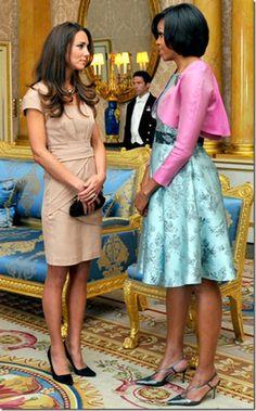 Michelle Obama & Kate Moddleton - Dois dos meus ícones de Moda!