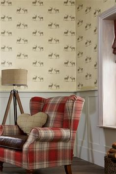 Buy Natural Stags Wallpaper from the Next UK online shop Stag Wallpaper, Country Style Living Room, Stair Decor, Wonderwall, Inspired Homes, Home Decor Items, Decoration, Interior Inspiration, Family Room