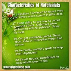 Characteristics of Narcissists  ( 26 - 30 )