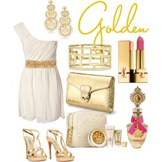 Golden, created by jemevangelista on Polyvore