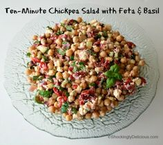 Ten-Minute Chickpea Salad on Shockingly Delicious. Link to lots of yummy looking vegetarian stuff