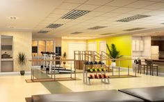 Physical Therapy Room. Clean. I like.....gives me ideas!