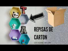 COMO HACER REPISAS - ESTANTERIAS CON CARTON - DIY DECOR - CARDBOARD CRAFTS - YouTube Cardboard City, Cardboard Crafts, Cardboard Boxes, Moving Boxes, Dot Art Painting, Box Houses, Dyi Crafts, Diy Box, Clever Diy
