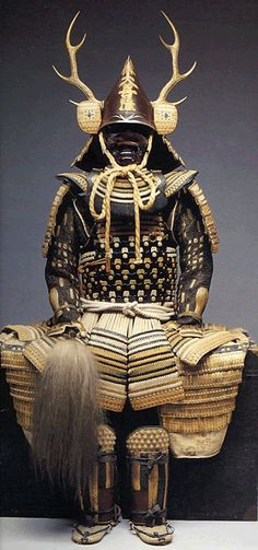 Daimyo-Antler-Suit  (Subordinate only to the shogun, daimyo were the most powerful feudal rulers from the 10th century to the middle 19th century in Japan.)