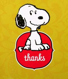 Snoopy says Thanks
