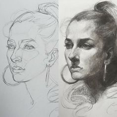 Before and After Charcoal Drawing by Oliver Sin Instagram @oliversin
