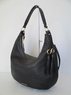 187db735e18de Michael Kors Lauryn Black Leather Large Tote Shoulder Handbag 30S7GL0L3L
