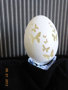 Unique Bunches of Butterflies Real Goose Egg by CraftyCarvings, $32.95