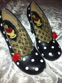 Billie Rocka custom made rockabilly shoe clips! Many custom design options available.