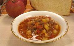 Gulaš čorba - Recept i sastojci - Bosanskikuhar. Chana Masala, Chili, Soup, Beef, Ethnic Recipes, Serbian, Bosnia, Macedonia, Nasa