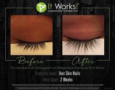 It Works hair Skin and Nails will help you eyelashes grow longer!                                                                                                                                                                                 More