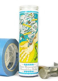 Home Renovation  Remodeling Relief Prayer Candle *** You can get more details by clicking on the image.