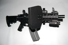 Complete Leve 3 Shield and Quick Release Mounting System. What's Included: 2 Level 3 Shields ( Choice of Cudora or Ballistic Line X ) 2 Black Hard Anodized Quick Release Picatinny Mounting Brackets All Hardware and Pins Weapons Guns, Guns And Ammo, Tactical Assault Gear, Ar Build, Battle Rifle, Picatinny Rail, Military Guns, Modern Warfare, Firearms