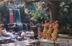 Tahitian Terrace, Adventureland, Disneyland, early 1960s.