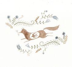 Hungry Fox-bird by Julianna Swaney