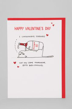 Hotch Potch I Lurve You Valentine's Day Card #urbanoutfitters