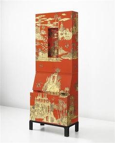 """""""Gran-Coromandel""""  par Piero Fronasetti. secretaire trumeau avec éclairage / illuminated trumeau, 1956–1965"""