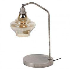 Håndlavet bordlampe i patineret metal og glas Lighting, Home Decor, Light Fixtures, Lights, Interior Design, Home Interior Design, Lightning, Home Decoration, Decoration Home