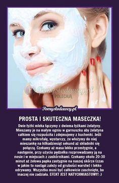 Pomysłodawcy.pl - serwis bardziej kreatywny - SUPER DOMOWA MASECZKA NA ZASKÓRNIKI - ZRÓB JĄ SAMA! Beauty Spa, Beauty Hacks, Hair Beauty, Face Care, Body Care, Skin Care, Body Workout At Home, Healthy Filling Snacks, Diy Spa