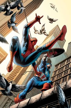 #Spiderman #Fan #Art. (Spider-Man #16 Cover) By: Steve Epting. (THE * 5 * STÅR * ÅWARD * OF: * AW YEAH, IT'S MAJOR ÅWESOMENESS!!!™)[THANK Ü 4 PINNING!!!<·><]<©>ÅÅÅ+(OB4E)
