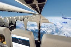 The windows would be replaced on the inside by screens projecting footage from cameras on the side of the plane.
