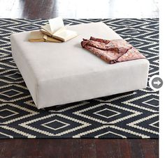 love this graphic rug from West Elm!