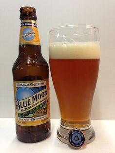 Delicious summer beer - orange flavor Blue Moon Valencia Grove Amber