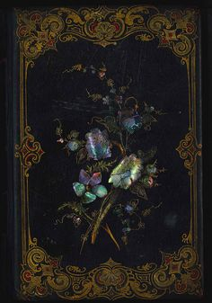 heaveninawildflower:  Floral Book cover. Library CompanyConservation Dept. http://www.flickr.com/photos/librarycompany/9969428503/