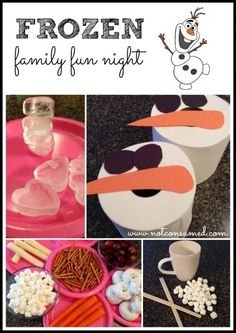 Frozen family fun night is full of games and activities based on the movie Frozen. It's a frugal, simple, and chilly blast! Many of these ideas can also be used for a Frozen birthday party. Disney Frozen Party, Frozen Games, Frozen Birthday Party, Frozen Movie, Birthday Parties, Olaf Frozen, 4th Birthday, Olaf Party, Girl Parties