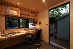 27 Trendy Backyard Shed Office Outdoor Garden Office Shed, Backyard Office, Backyard Studio, Backyard Sheds, Garden Studio, Modern Backyard, Office Pods, Tiny Office, Studio Hangar