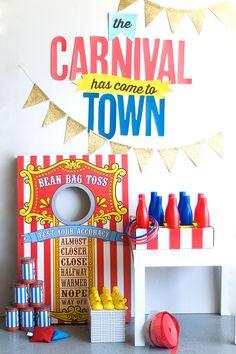 DIY Carnival Party Ideas plus free printable!